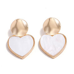 Heart Shaped Alloy Earrings