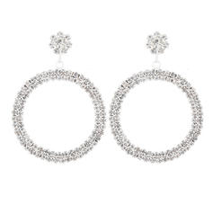 Shining Beautiful Alloy Rhinestones Women's Earrings