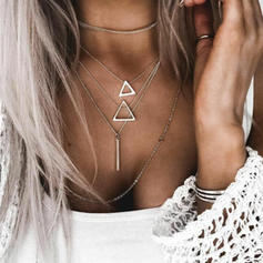 Fashionable Alloy Women's Necklaces (Sold in a single piece)
