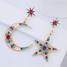 Star Shaped Alloy Rhinestones With Rhinestone Women's Fashion Earrings (Set of 2)