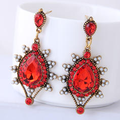 Vintage Alloy Resin Women's Earrings (Set of 2)