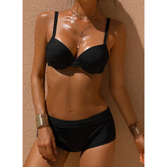 Solid Strap Sexy Bikinis Swimsuits