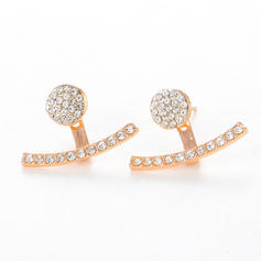 Stylish Alloy Rhinestones Women's Earrings