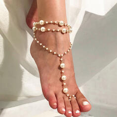 Charming Alloy With Imitation Pearl Beach Jewelry Anklets