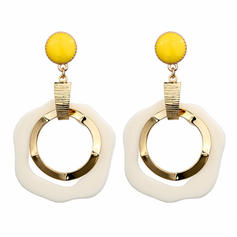Stylish Alloy Acrylic Women's Earrings