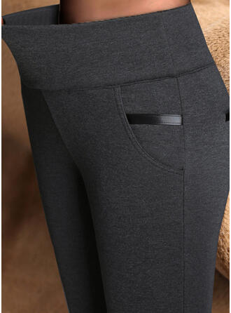 Solid Plus Size Sexy Vintage Leggings