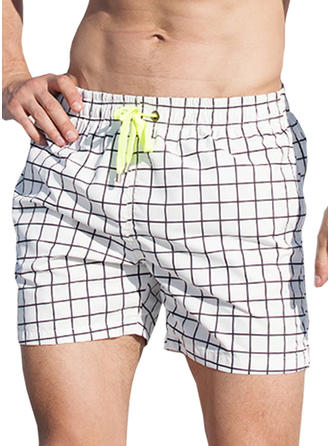Men's Grid Quick Dry Swim Trunks