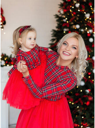 Mommy and Me Plaid Matching Dresses