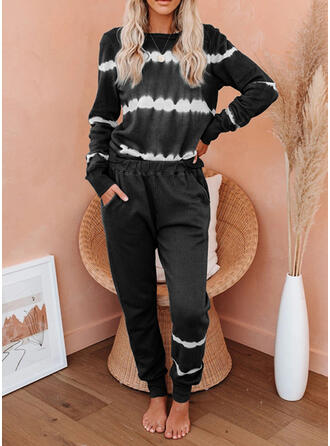 Striped Casual Sporty Suits