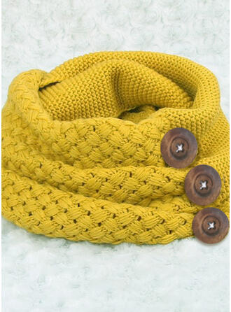 Solid Color/Crochet Neck/fashion/simple Scarf