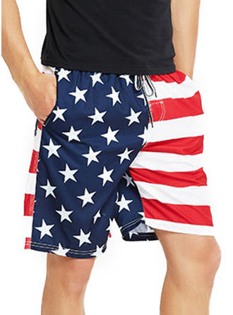 Men's Stripe Star Board Shorts