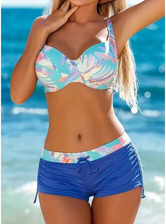 High Waist Splice color Strap Sexy Sports Bikinis Swimsuits